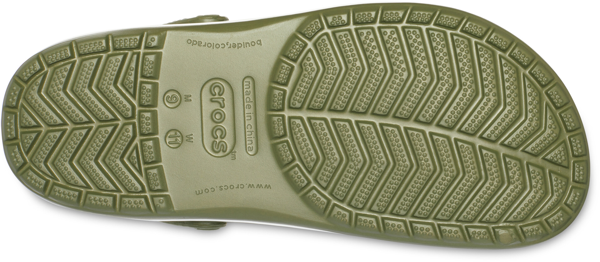Crocs Crocband Clogs, army greenwhite